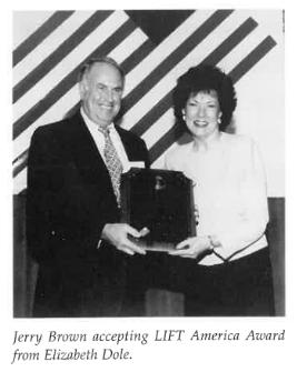 Jerry Brown LIFT award